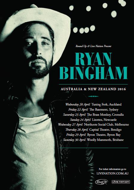 ryan bingham aus tour poster